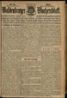 Waldenburger Wochenblatt, Jg. 58, 1912, nr 75