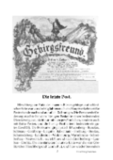 Die letzte Post (Hirschberg) [Dokument elektroniczny]
