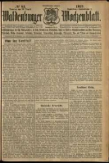 Waldenburger Wochenblatt, Jg. 58, 1912, nr 84