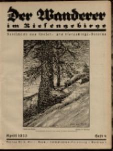 Der Wanderer im Riesengebirge, 1933, nr 4