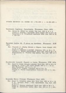 Wybór recenzji za okres 1.VII.1975-31.XII.1975