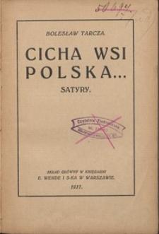 Cicha wsi polska... : satyry