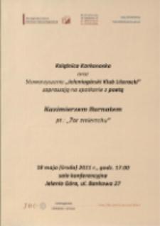 Żar zmierzchu : spotkanie z poetą Kazimierzem Burnatem - afisz [Dokument życia społecznego]