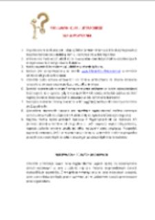 """Quiz literacki """"Szalone pytania"""" - regulamin [Dokument życia społecznego]"""