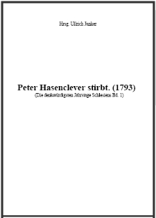 Peter Hasenclever stirbt. (1793) [Dokument elektroniczny]