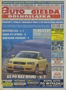 Auto Giełda Dolnośląska : regionalna gazeta ogłoszeniowa, 2003, nr 22 (984) [3.03]