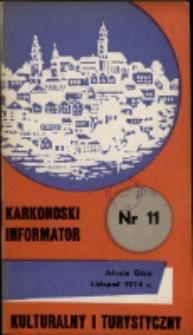 Karkonoski Informator Kulturalny i Turystyczny, 1974, nr 11 (93)
