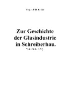 Zur Geschichte der Glasindustrie in Schreiberhau [Dokument elektroniczny]