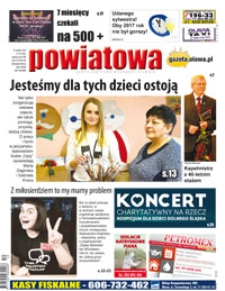 Gazeta Powiatowa - Wiadomości Oławskie, 2016, nr 52