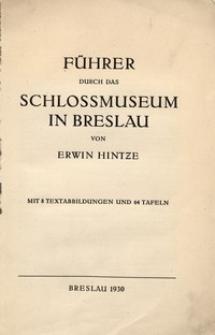 Führer durch das Schlossmuseum in Breslau