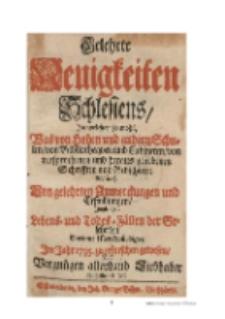 Hirschbergische Merckwürdigkeiten : in Gelehrte Neuigkeiten Schlesiens 1735 [Dokument elektroniczny]