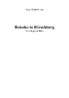 Das Rokoko in Hirschberg [Dokument elektroniczny]