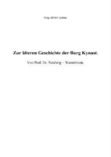 Zur älteren Geschichte der Burg Kynast [Dokument elektroniczny]