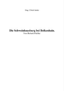 Die Schweinhausburg bei Bolkenhain [Dokument elektroniczny]