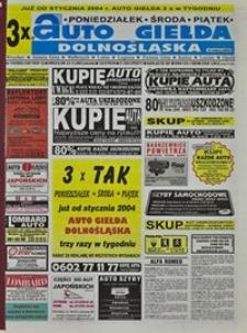 Auto Giełda Dolnośląska : regionalna gazeta ogłoszeniowa, 2003, nr 125 (1087) [23.12]