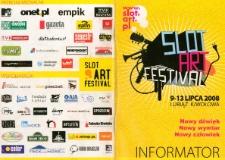 Informator Slot Art Festiwal w Lubiążu 2008 [Dokument życia społecznego]