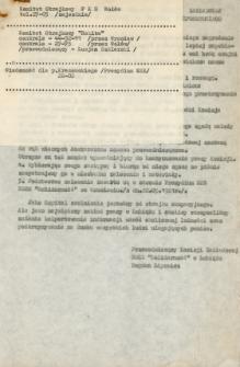 Instrukcja dla wszystkich członków komisji zakładowej NSZZ Solidarność na wypadek bezpośredniego zagrożenia - marzec 1981 [Dokument elektroniczny]