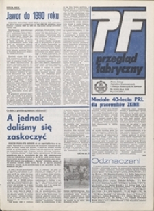 Przegląd Fabryczny : pismo załogi Zakładów Kuzienniczych i Maszyn Rolniczych w Jaworze, 1986, nr 1 (101)