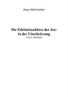 Die Edelsteinschätze der Jser in der Überlieferung [Dokument elektroniczny]