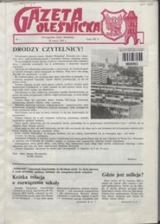 Gazeta Oleśnicka: dwutygodnik Ziemi Oleśnickiej, 1990, nr 1