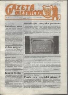 Gazeta Oleśnicka: dwutygodnik Ziemi Oleśnickiej, 1990, nr 10