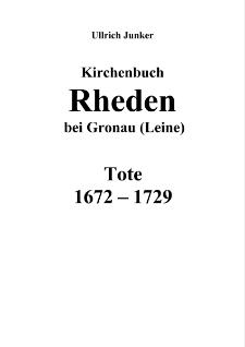 Kirchenbuch Rheden bei Gronau (Leine) : Tote 1672-1729 [Dokument elektroniczny]