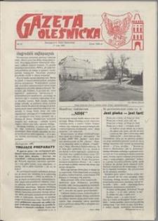 Gazeta Oleśnicka: dwutygodnik Ziemi Oleśnickiej, 1991, nr 21