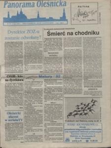 Panorama Oleśnicka: dwutygodnik Ziemi Oleśnickiej, 1992, nr 52