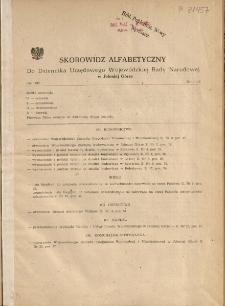 Skorowidz alfabetyczny do Dziennika Urzędowego Województwa Jeleniogórskiego za rok 1982, nr 1-10