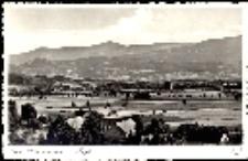 Jelenia Góra - Cieplice - widok ogólny, Karkonosze - panorama [Dokument ikonograficzny]