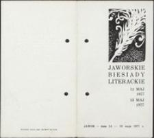 Jaworskie Biesiady Literackie, 12-13 maja 1977 r. - program [Dokument życia społecznego]