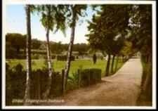 Ohlau - Eingag zum Stadtpark [Dokument ikonograficzny]