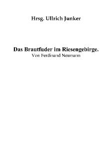 Das Brautfuder im Riesengebirge [Dokument elektroniczny]