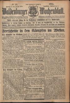 Waldenburger Wochenblatt, Jg. 61, 1915, nr 12