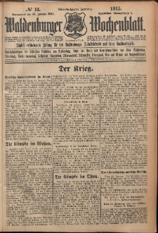 Waldenburger Wochenblatt, Jg. 61, 1915, nr 13