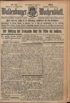 Waldenburger Wochenblatt, Jg. 61, 1915, nr 14