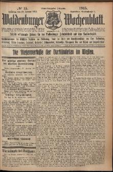 Waldenburger Wochenblatt, Jg. 61, 1915, nr 15