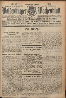 Waldenburger Wochenblatt, Jg. 61, 1915, nr 17
