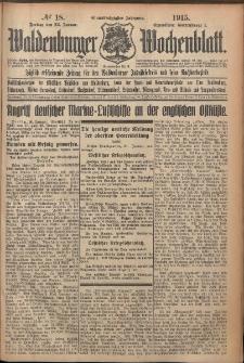 Waldenburger Wochenblatt, Jg. 61, 1915, nr 18