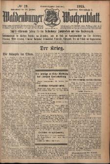 Waldenburger Wochenblatt, Jg. 61, 1915, nr 19
