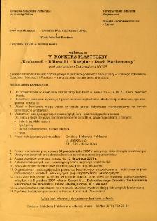 Krakonoš - Rũbezahl - Rzepiór : duch Karkonoszy : V konkurs plastyczny pod patronatem Euroregionu NYSA - regulamin [Dokument elektroniczny]