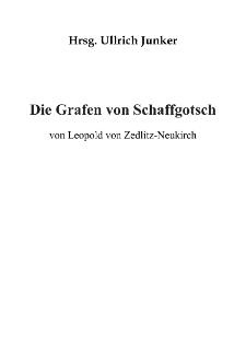 Die Grafen von Schaffgotsch [Dokument elektroniczny]