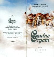 Cantus Organi 2015 - informator [Dokument życia społecznego]