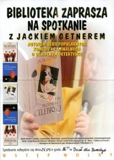 Spotkanie z Jackiem Getnerem - plakat [Dokument życia społecznego]