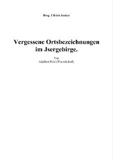 Vergessene Ortsbezeichnungen im Jsergebirge [Dokument elektroniczny]