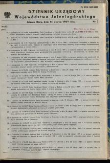 Dziennik Urzędowy Województwa Jeleniogórskiego, 1989, nr 2