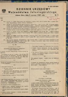 Dziennik Urzędowy Województwa Jeleniogórskiego, 1989, nr 9
