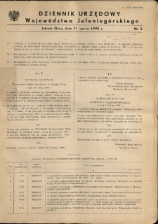 Dziennik Urzędowy Województwa Jeleniogórskiego, 1990, nr 3