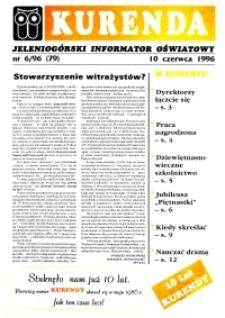 Kurenda : jeleniogórski informator oświatowy, 1996, nr 6 (79)