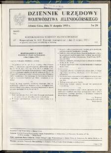 Dziennik Urzędowy Województwa Jeleniogórskiego, 1993, nr 29